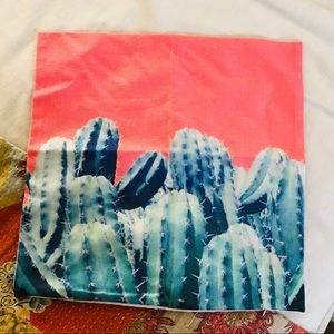 Other - Cactus print throw pillow case cover